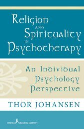 Religion and Spirituality in Psychotherapy - Springer Publishing