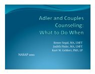 Adler and Couples Counseling