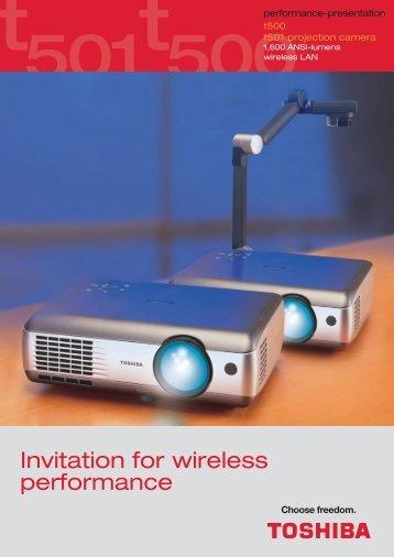 Prospekt T 500/501 E - Toshiba