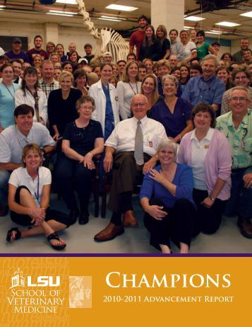 Champions - School of Veterinary Medicine - Louisiana State ...
