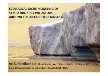 Ecological niche modeling of sympatric krill predators around - IMBER