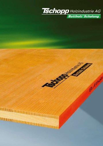 Buttholz® Schalungsplatten - Tschopp Holzindustrie