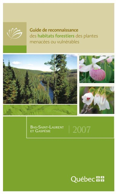 Guide De Reconnaissance Des Habitats Forestiers Des Plantes