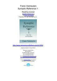Frans Vermeulen Synoptic Reference 1 - Homeopathy books ...