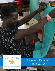 Annual Report for 2010 - Haiti Projects
