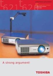 Prospekt T 620/621(E) - Toshiba