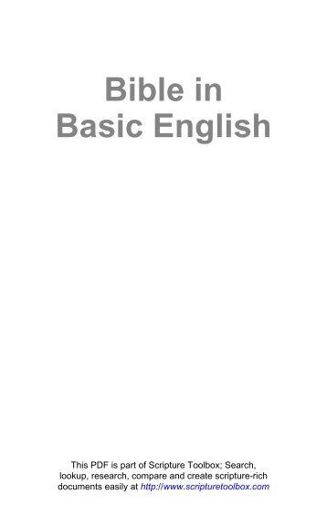 Bible In Basic English Pdf
