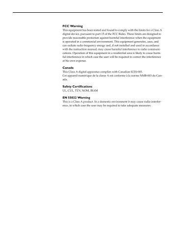 FCC Warning Canada Safety Certifications EN 55022 ... - Toshiba