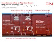 Inspection and Safety for Plug Door Boxcar*