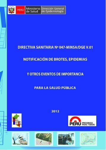 D.S Nº047 MINSA/DGE V.01- Notificación de Brotes, Epidemias.