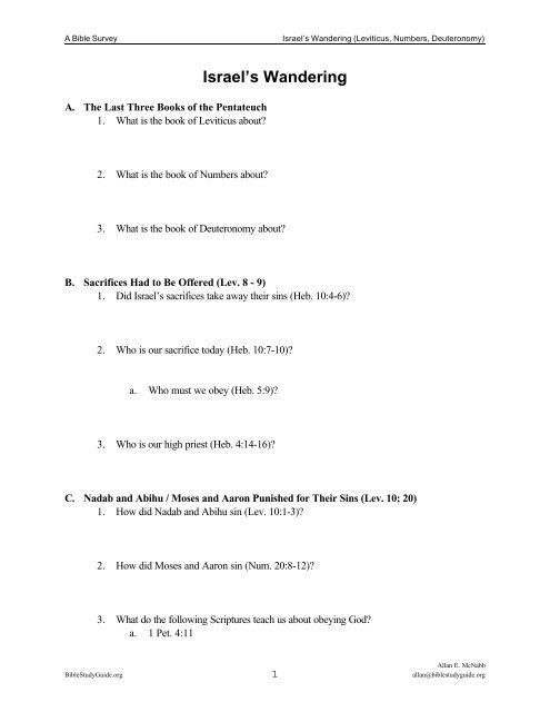 Lesson Worksheet - Bible Study Guides