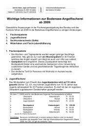 Wichtige Informationen zur Bodensee-Angelfischerei ab 2009: