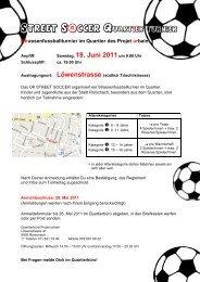 Strassenfussballturnier im Quartier des Projet ... - Stadt Rorschach