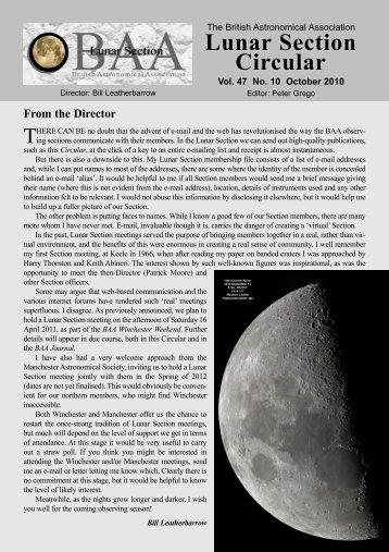 Vol. 47 No. 10 October 2010 - Lunar Section