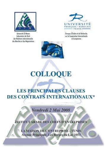 Les principales clauses des contrats internationaux