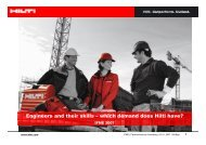 Engineers and their skills -; which demand does Hilti have?