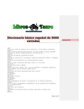 Diccionario Basico Español de 5.000 entradas - Revolución Tres ...