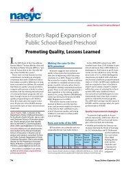 Boston's Rapid Expansion of Public School-Based Preschool
