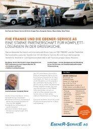 FHE FRANKE UND DIE Ebener-Service AG Eine STARKE ...