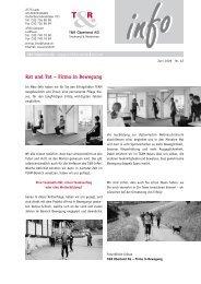 Aktuelle Herausforderung in der Personalvorsorge - T+R Oberland AG