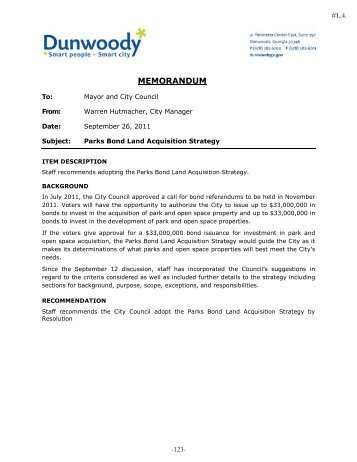 Parks Bond Land Acquisition Strategy - Heneghan Family of ...