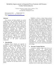 Reliability Improvements in Integrated Power Systems with Pressure ...