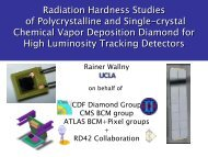 R. Wallny/UCLA, Radiation Hardness Studies of Polycrystalline