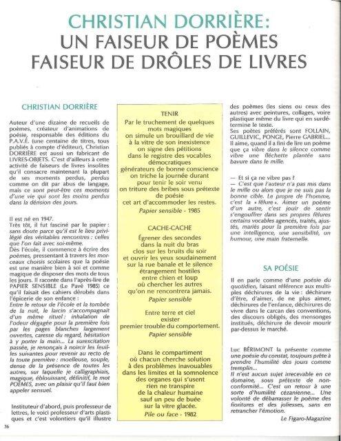 Christian Dorrière Un Faiseur De Poèmes Icem
