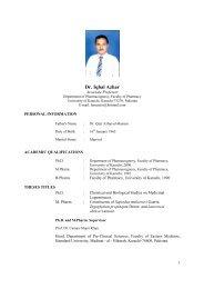 Dr. Iqbal Azhar - Pakistan Journal of Pharmaceutical Sciences
