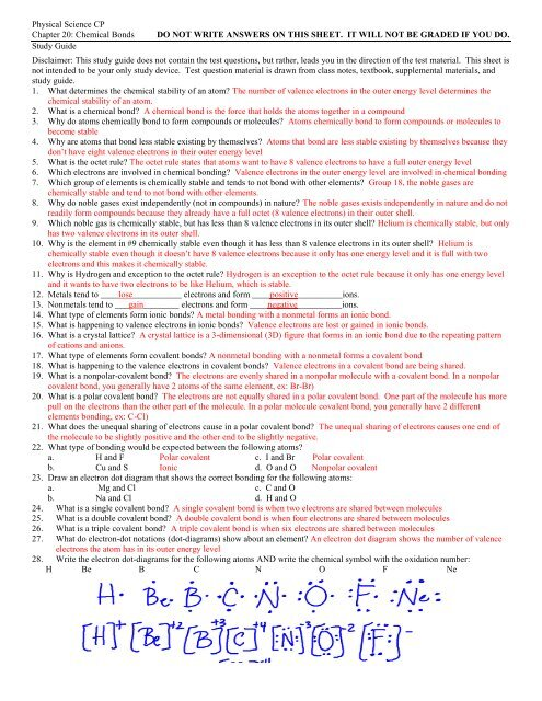 Study Guide With Answers Chapter 20