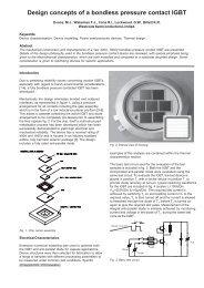 Design concepts of a bondless pressure contact IGBT