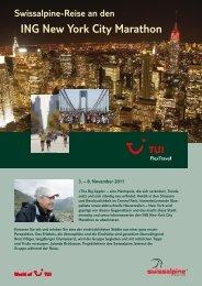 Swissalpine-Reise an den ING New York City Marathon - TUI Chur