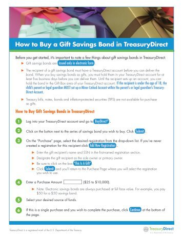 How to Buy a Gift Savings Bond in TreasuryDirect