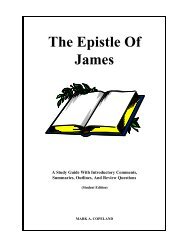 The Epistle Of James - Executable Outlines