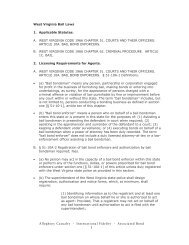 West Virginia Bail Laws 1. Applicable Statutes. - AIA Bail Bond Surety