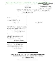 07-5165 - Affordable Bail Bonds, Inc., et al - U.S. Government ...