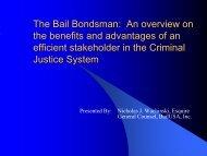 The Bail Bondsman - Effective Criminal Justice ... - Sedgwick County