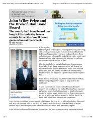 Dallas John Wiley Price and the Broken Bail Bond Board - Dallas ...