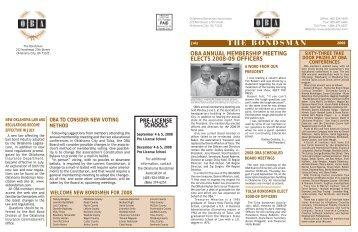 THE BONDSMAN 2008 July - Oklahoma Bondsman Association