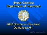 Renewal Demonstration - South Carolina Department of Insurance ...