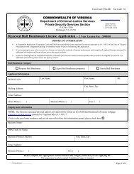 Renewal Bail Bondsman License Application - Criminal Justice ...