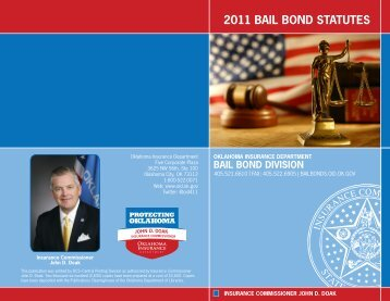 2011 BAIL BOND STATUTES - State of Oklahoma Web Site