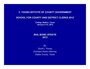 v. young intitute of county government school for - VG Young ...