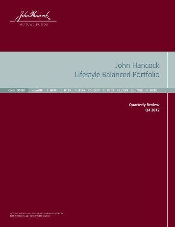 Quarterly Investment Report - John Hancock Funds