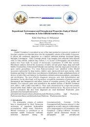 Depositional Environment and Petrophysical Properties ... - Iasj.net