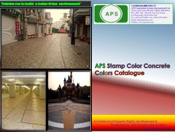 APS Stamp Color Concrete - APS Construction System ...