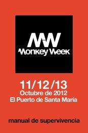 Programa de mano - Monkey Week
