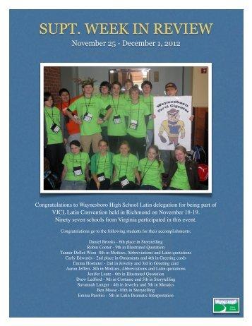 December 1, 2012 - Waynesboro Public Schools