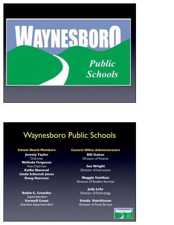 2013-2014-Budget-Key.. - Waynesboro Public Schools