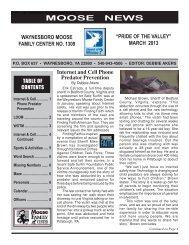 Download the Waynesboro Moose Lodge Newsletter here.